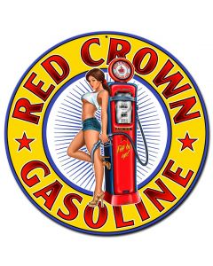 Red Crown New Vintage Sign, Other, Metal Sign, Wall Art, 24 X 24 Inches
