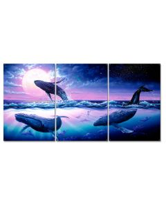 Whale Journey Vintage Sign, Ocean and Beach, Metal Sign, Wall Art, 30 X 15 Inches