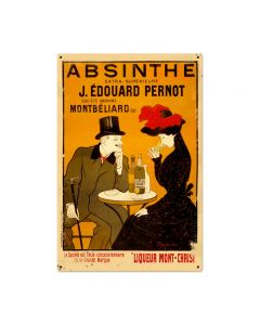 Absinthe Cafe Vintage Sign, Humor, Metal Sign, Wall Art, 24 X 36 Inches