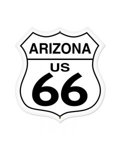 Arizona Route 66 Vintage Sign, Street Signs, Metal Sign, Wall Art, 28 X 28 Inches