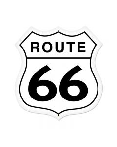 Route 66 Vintage Sign, Street Signs, Metal Sign, Wall Art, 28 X 28 Inches