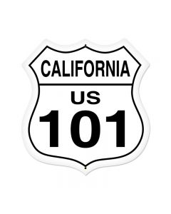 California Route 101 Vintage Sign, Street Signs, Metal Sign, Wall Art, 28 X 28 Inches