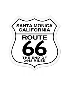 Santa Monica Vintage Sign, Street Signs, Metal Sign, Wall Art, 28 X 28 Inches