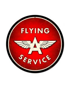 Flying A Vintage Sign, Transportation, Metal Sign, Wall Art, 28 X 28 Inches