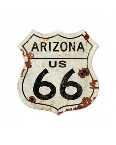 Route Arizona Us 66 Xxl Vintage Sign, Street Signs, Metal Sign, Wall Art, 40 X 42 Inches