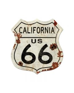 ROUTE CALIFORNIA US 66 LARGE Vintage Sign, Street Signs, Metal Sign, Wall Art, 40 X 42 Inches