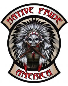 Native Pride Indian, Man Cave, Metal Sign, Wall Art, 26 X 22 Inches