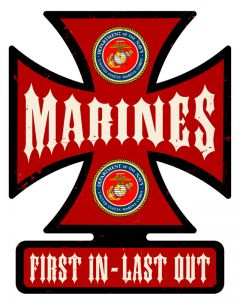 Marines, Military, Metal Sign, Wall Art, 14.5 X 18.5 Inches