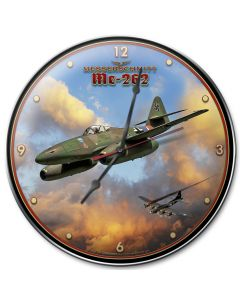 Me-262 Jet, Military, Metal Sign 1, Wall Art, 14 X 14 Inches