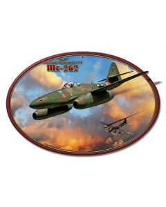 Me-262 Jet Vintage Sign, Military, Metal Sign, Wall Art, 20 X 13 Inches