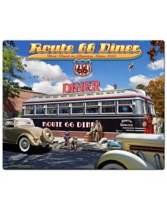 1936 Route 66 Diner, Street Signs, Metal Sign, Wall Art, 24 X 30 Inches