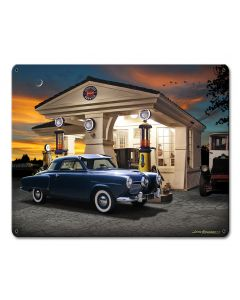 1950 Studebaker, Automotive, Metal Sign, Wall Art, 15 X 12 Inches