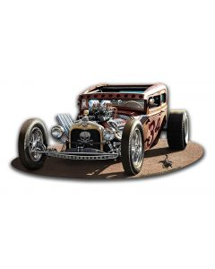 1930 Rat Rod, Automotive, Metal Sign, Wall Art,  X  Inches