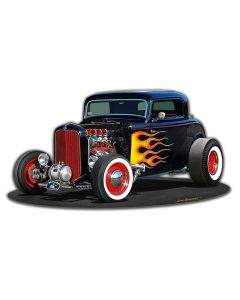 1932 Deuce Coupe, Automotive, Metal Sign, Wall Art,  X  Inches