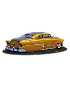 1950 Lead Sled, Automotive, Metal Sign, Wall Art,  X  Inches