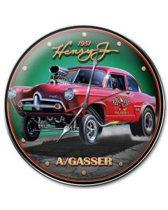 1951 Henry J Gasser, Automotive, Metal Sign, Wall Art, 14 X 14 Inches