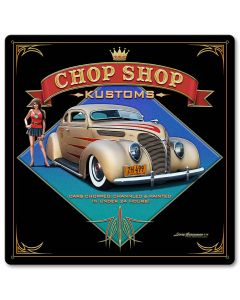 1938 Ford Kustom Vintage Sign, Automotive, Metal Sign, Wall Art, 12 X 12 Inches