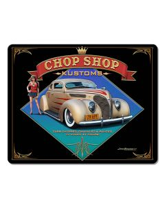1938 Ford Kustom Vintage Sign, Automotive, Metal Sign, Wall Art, 15 X 12 Inches