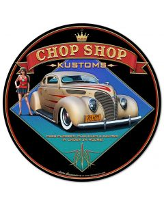1938 Ford Kustom Vintage Sign, Automotive, Metal Sign, Wall Art, 14 X 14 Inches