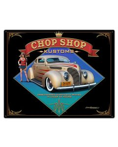 1938 Ford Kustom Vintage Sign, Automotive, Metal Sign, Wall Art, 30 X 24 Inches