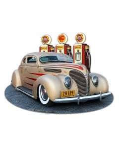 1938 Ford Kustom Vintage Sign, Automotive, Metal Sign, Wall Art, 18 X 14 Inches