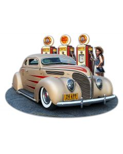 1938 Ford Kustom Vintage Sign, Automotive, Metal Signs, Wall Art, 18 X 14 Inches