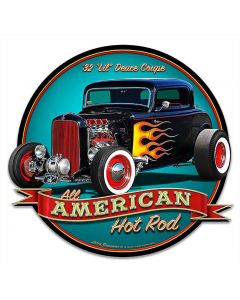 1932 Lil Deuce Coupe Vintage Sign, Automotive, Metal Sign, Wall Art, 16 X 15 Inches