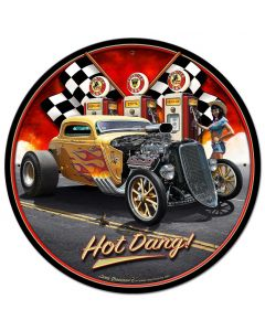 1933 Hot Dang, Automotive, Metal Sign, Wall Art, 28 X 28 Inches