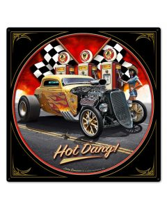 1933 Hot Dang, Automotive, Metal Sign, Wall Art, 24 X 24 Inches