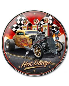 1933 Hot Dang, Automotive, Metal Signs, Wall Art, 14 X 14 Inches