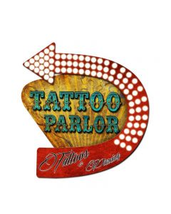 3-D Tattoo Parlor   Vintage Sign, 3-D, Metal Sign, Wall Art, 20 X 24 Inches