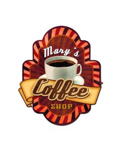 Coffee Shop 3-D Sign, 3-D, Metal Sign, Wall Art,  X  Inches