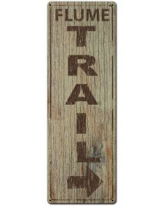 Hiking Flume Trail, Barn and Country, Metal Sign, Wall Art,  X  Inches