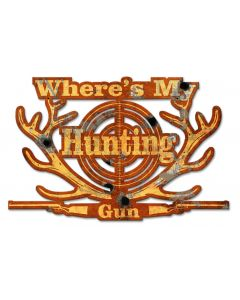 My Lucky Hunting Shirt Vintage Sign, Barn and Country, Metal Sign, Wall Art, 20 X 13 Inches