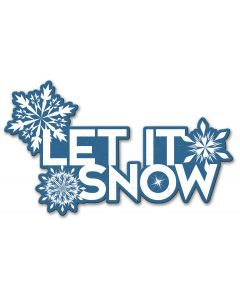 Let It Snow Vintage Sign, Seasonal, Metal Sign, Wall Art, 21 X 12 Inches