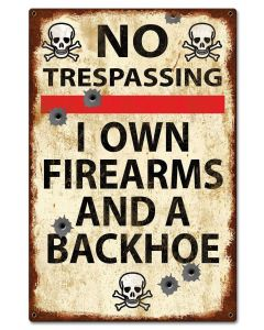 No Trespassing Vintage Vintage Sign, Man Cave, Metal Sign, Wall Art, 16 X 24 Inches