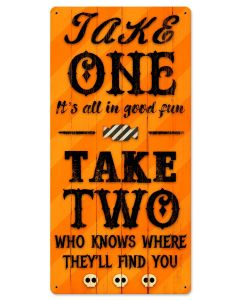 Take One Halloween Candy, Halloween, Metal Sign, Wall Art, 12 X 24 Inches