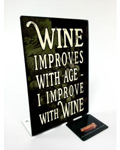 Improve Wine Vintage Sign, Bar and Alcohol , Metal Sign, Wall Art, 4 X 6 Inches