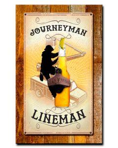 Journeyman Lineman Bottle Opener Vintage Sign, Lineman, Metal Sign, Wall Art, 10 X 16 Inches
