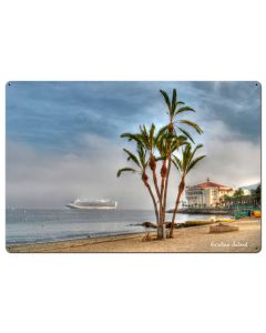 Palms Catalina Island Vintage Sign, Other, Metal Sign, Wall Art, 36 X 24 Inches