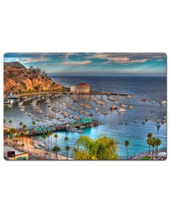 Boats Casino Catalina Island Vintage Sign, Bar and Alcohol , Metal Sign, Wall Art, 24 X 16 Inches