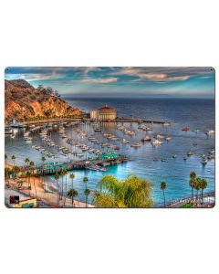 Boats Casino Catalina Island Vintage Sign, Bar and Alcohol , Metal Sign, Wall Art, 36 X 24 Inches