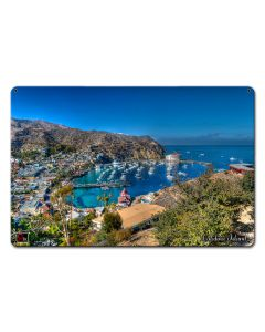 ISLAND VIEW CATALINA ISLAND Vintage Sign, Other, Metal Sign, Wall Art, 18 X 12 Inches