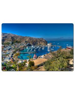 Island View Catalina Island Vintage Sign, Other, Metal Sign, Wall Art, 24 X 16 Inches