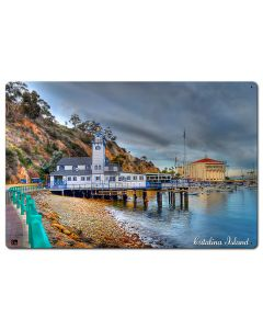 Lighthouse Catalina Island Satin Vintage Sign, Other, Metal Sign, Wall Art, 24 X 16 Inches