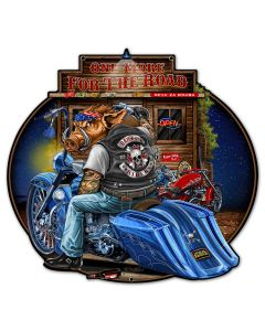Bagger, New Products, Metal Sign, Wall Art, 24 X 23 Inches
