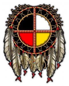 MEDICINE WHEEL R6, Other, Metal Sign, Wall Art, 14 X 18 Inches