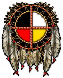 MEDICINE WHEEL R6, Other, Metal Sign, Wall Art, 23 X 30 Inches