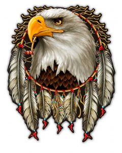 W EAGLE DREAM, Other, Metal Sign, Wall Art, 14 X 18 Inches