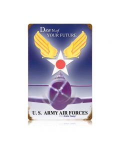 Dawn Of Your Future Vintage Sign, Military, Metal Sign, Wall Art, 12 X 18 Inches